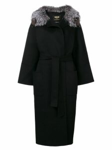 S.W.O.R.D 6.6.44 long belted coat - Black