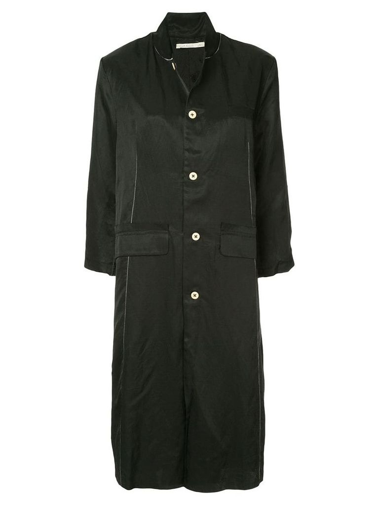 Aleksandr Manamïs stitch detail single-breasted coat - Black