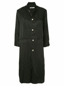 Aleksandr Manamïs stitch detail single-breasted coat - Black