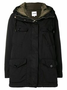 Aspesi hooded coat - Black