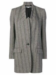 Stella McCartney single-breasted oversized coat - Black