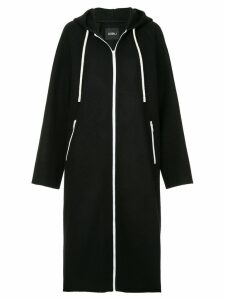 Goen.J hooded drawstring coat - Black