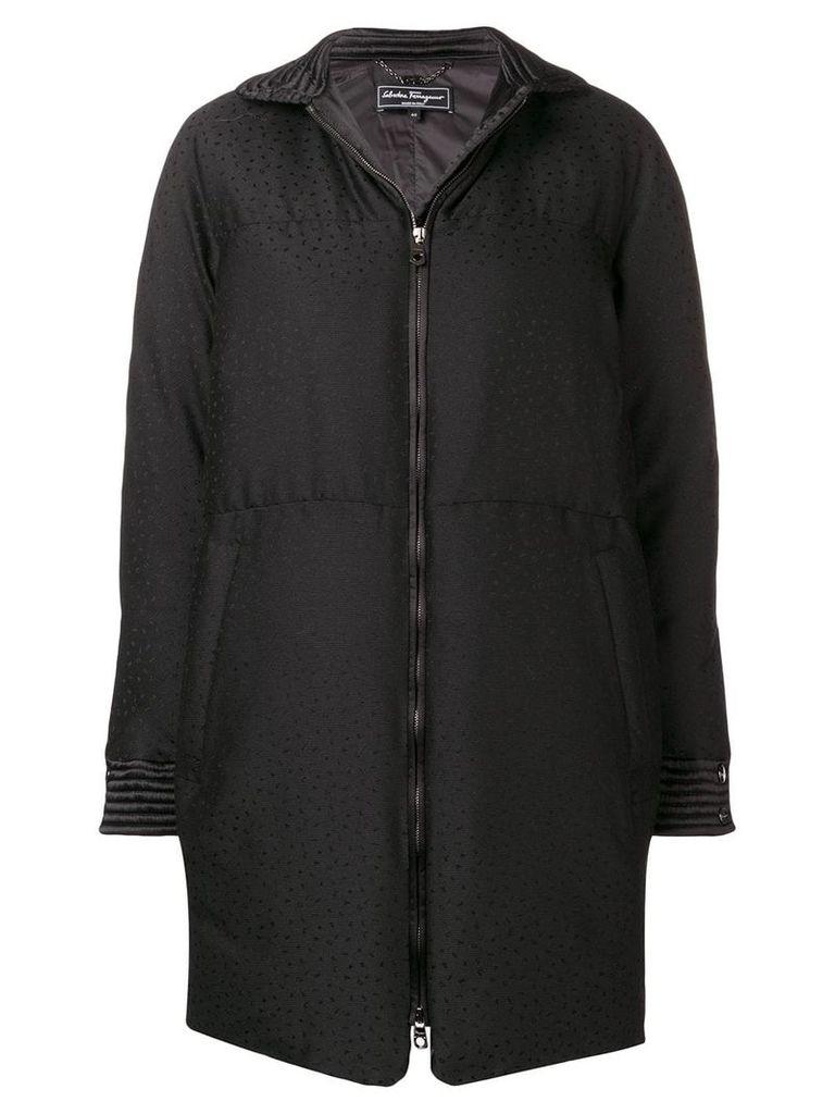 Salvatore Ferragamo padded fitted coat - Black