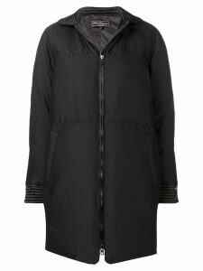 Salvatore Ferragamo padded fitted coat - Black