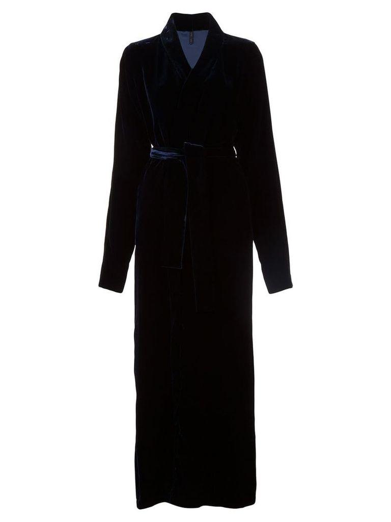 Unravel Project long textured coat - Blue