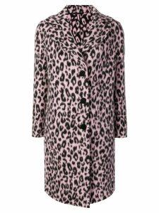 Ermanno Scervino leopard pattern coat - Pink