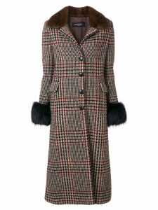 Simonetta Ravizza single breasted long coat - Brown
