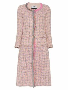 Tiger In The Rain repurposed chanel tweed midi coat - Pink