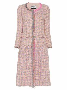 Tiger In The Rain repurposed chanel tweed midi coat - Pink
