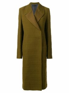 Haider Ackermann wrap front coat - Green