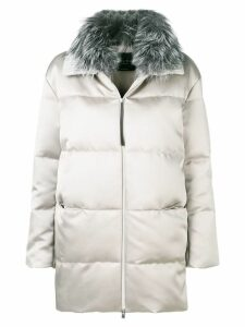 Fabiana Filippi fur collar puffer coat - Grey