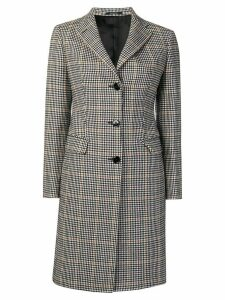 Tagliatore checked single-breasted coat - Grey