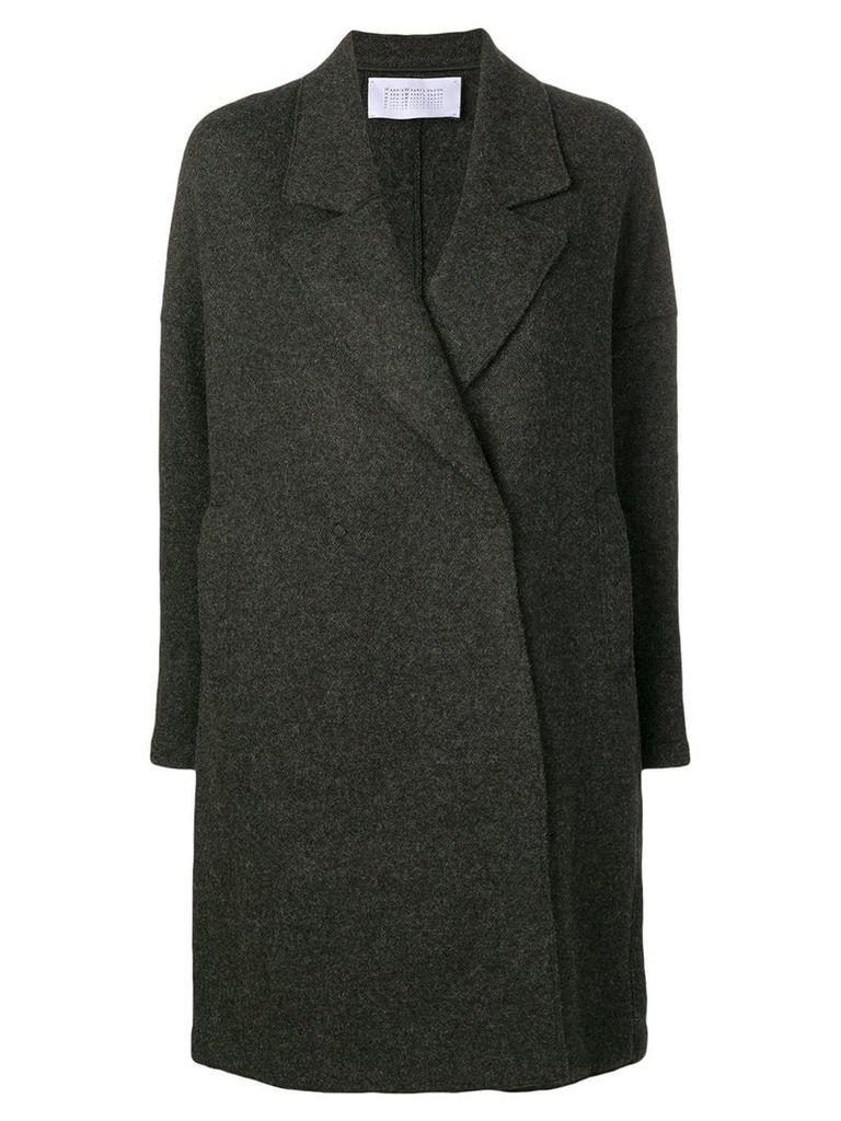 Harris Wharf London classic single breasted coat - Grey