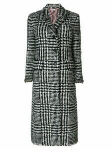 Thom Browne Prince Of Wales Overcoat - Black
