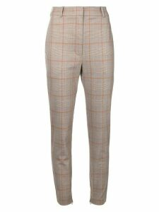 Zimmermann checkered high waisted trousers - Brown