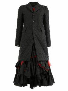 Comme Des Garçons blazer-style tiered dress - Black