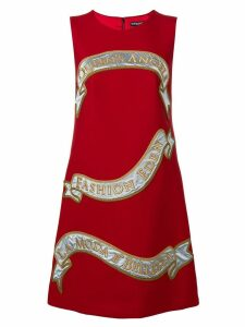Dolce & Gabbana front print shift dress - Red