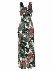 Tufi Duek foliage print long dress - Var14