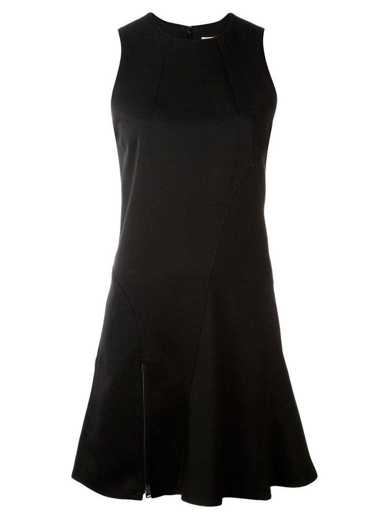 Paco Rabanne zip detailing flared dress - Black