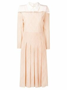 Fendi fitted waist midi dress - Pink