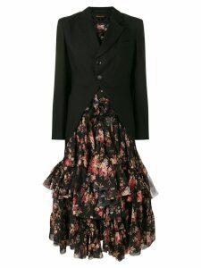 Comme Des Garçons blazer-style flared dress - Black