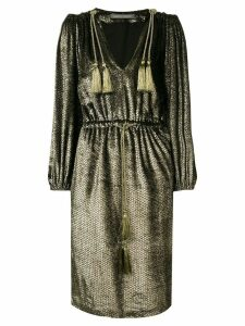Alberta Ferretti metallic sheen dress - Black