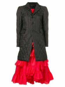 Comme Des Garçons coat-style midi dress - Black