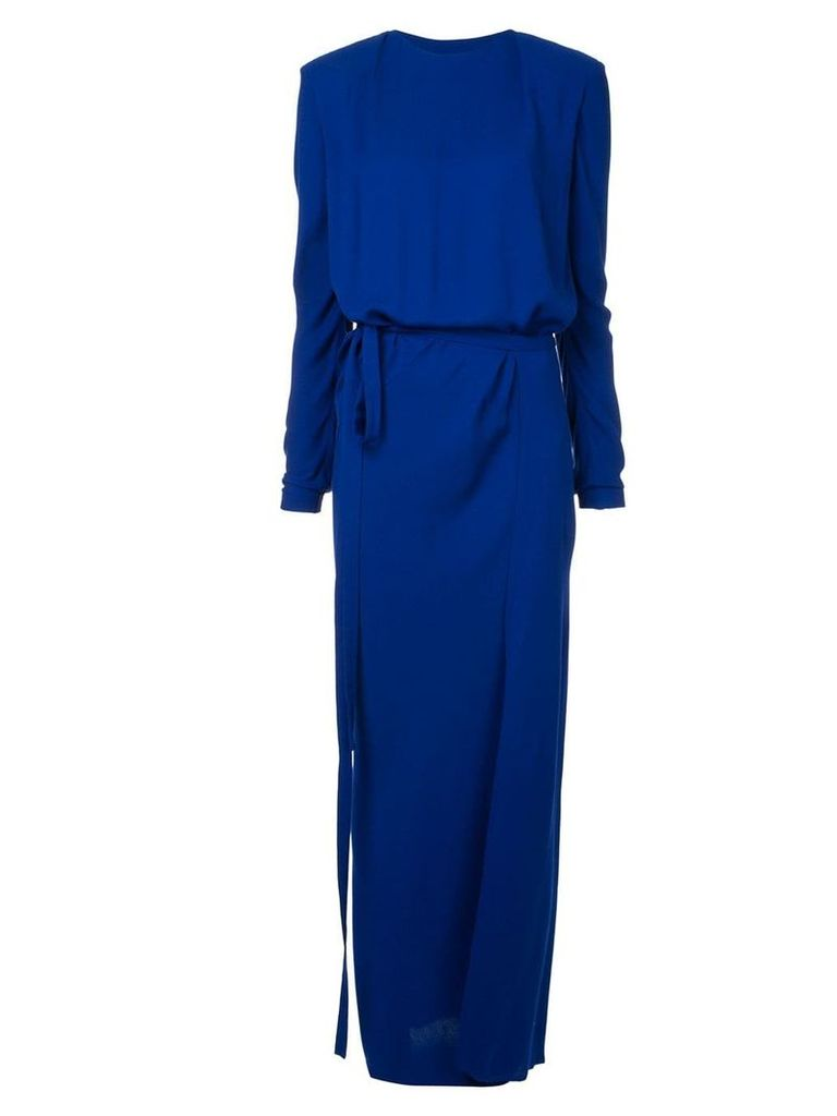 Haider Ackermann long fitted dress - Blue