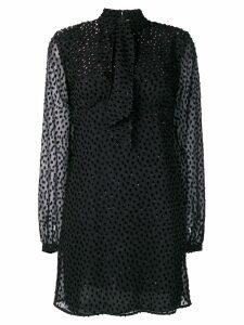 Saint Laurent longsleeved mini dress - Black