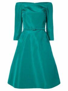 Oscar de la Renta off-the-shoulder flared midi dress - Green