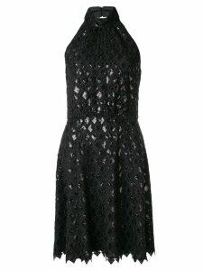 Emporio Armani diamond macramé dress - Black
