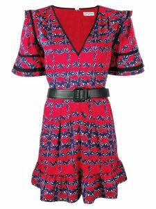 Self-Portrait V-neck mini dress - Red