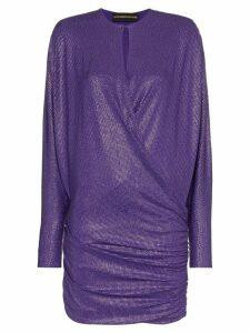 Alexandre Vauthier crystal embellished mini dress - PINK