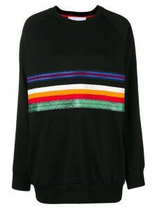 No Ka' Oi oversized stripe front sweatshirt - Black
