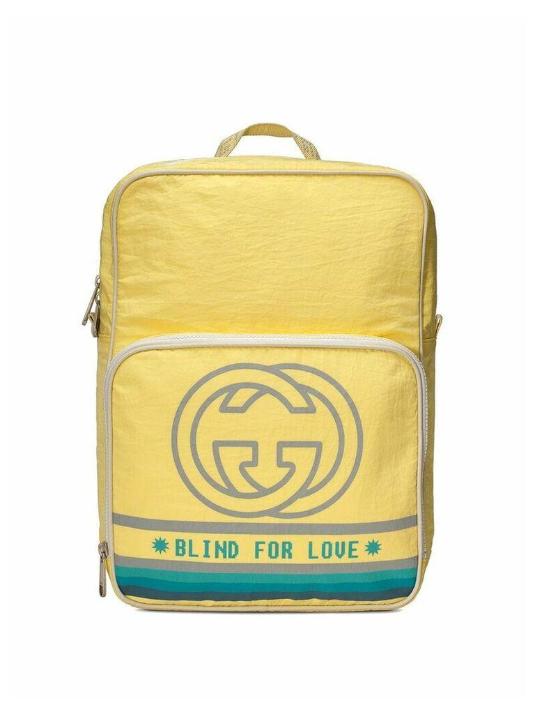 Gucci Medium backpack with Interlocking G print - Yellow