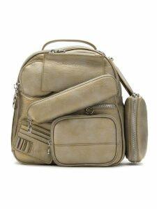 À La Garçonne multi pocket backpack - Metallic