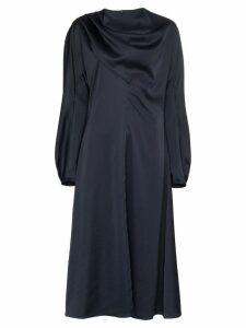 Low Classic High-neck dress - Blue