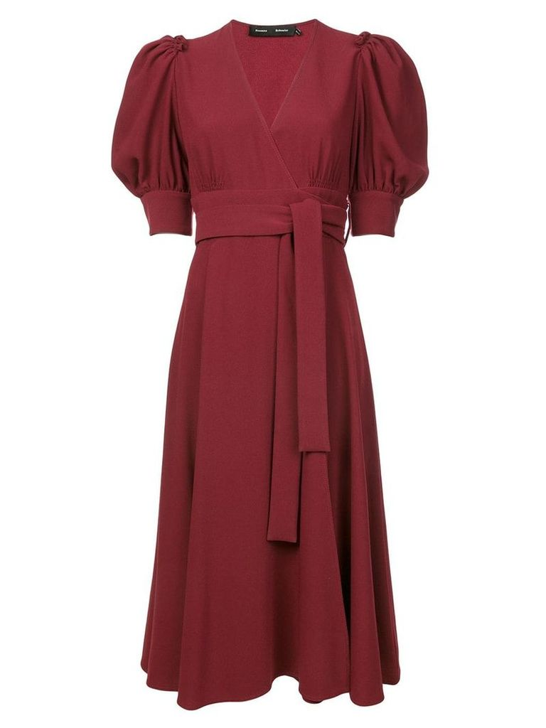 Proenza Schouler volume sleeve dress - Red