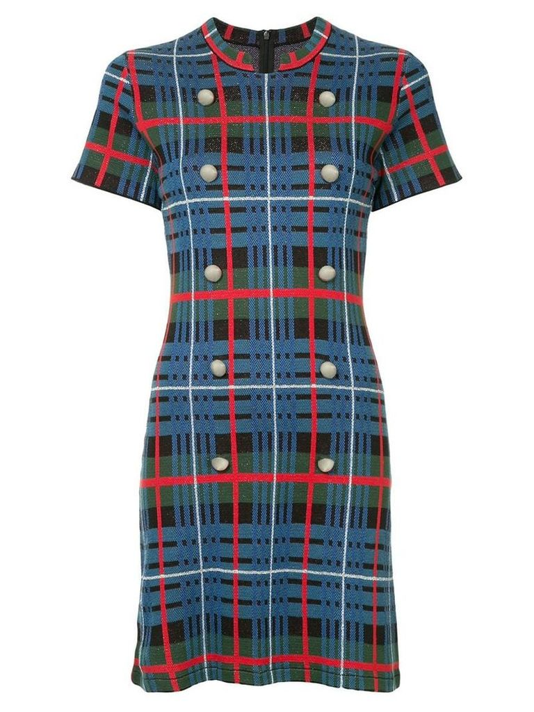 Macgraw Whistle tartan dress - Blue