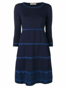 D.Exterior lace trim dress - Blue
