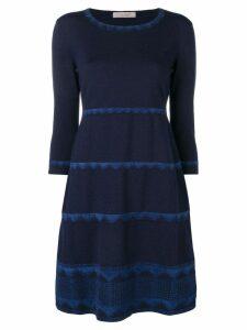 D.Exterior lace trim dress - Blue