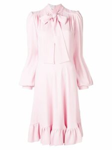 Giambattista Valli neck-tied flared dress - Pink