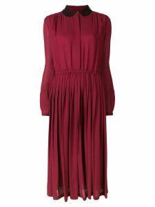 Giambattista Valli lace collar dress - 300 Burgundy