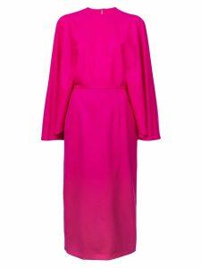 Sara Battaglia cape style dress - Pink