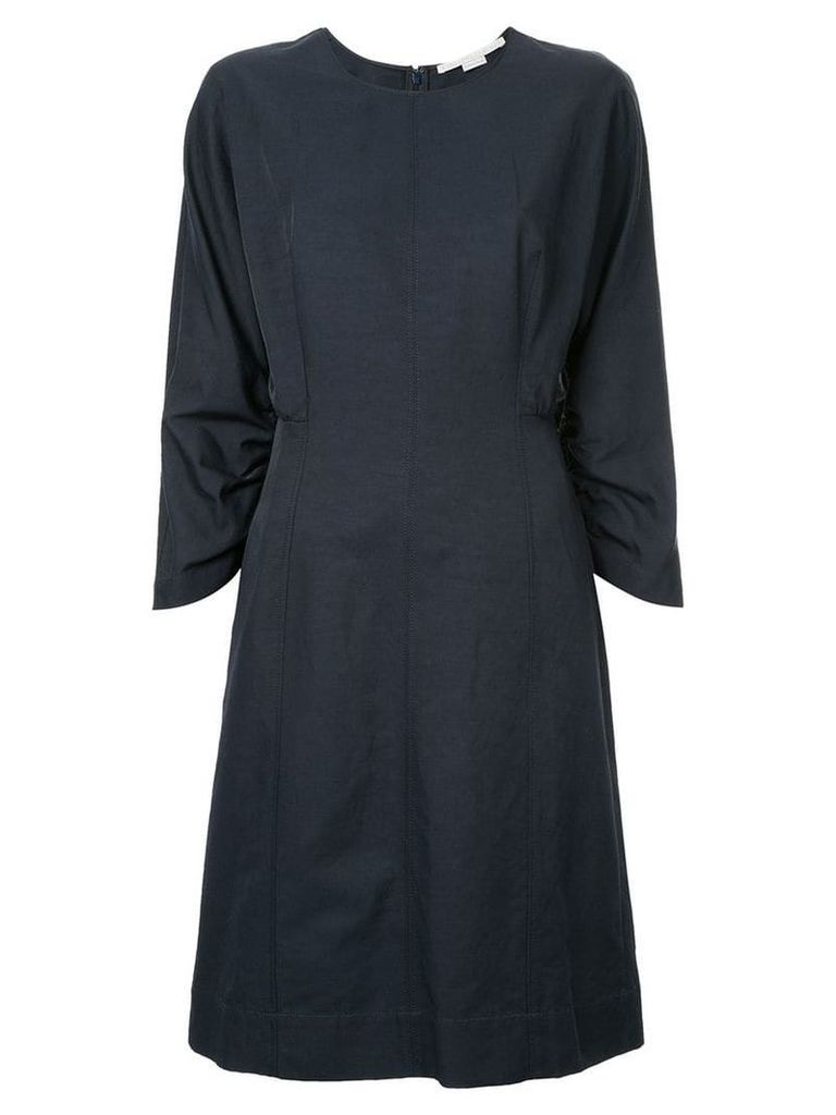 Stella McCartney ruched sleeve dress - Blue