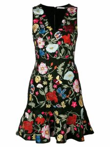 Alice+Olivia floral-embroidered dress - Black