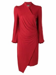 Plein Sud wrap knitted dress - Red