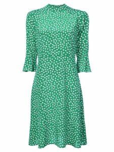 HVN printed day dress - Green