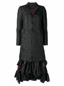 Comme Des Garçons padded coat dress - Black
