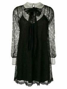 Miu Miu lace patterned short dress - Black
